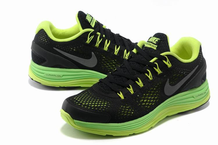 Nike 2013 Moonfall Grenadine Black Yellow Green Sport Shoes