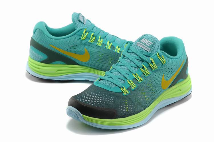 Nike 2013 Moonfall Grenadine Blue Grey Yellow Sport Shoes