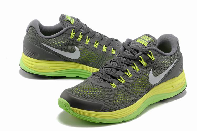 Nike 2013 Moonfall Grenadine Grey Yellow Green Sport Shoes