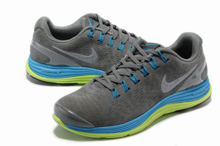 Nike 2013 Moonfall Grey Blue Green Sport Shoes