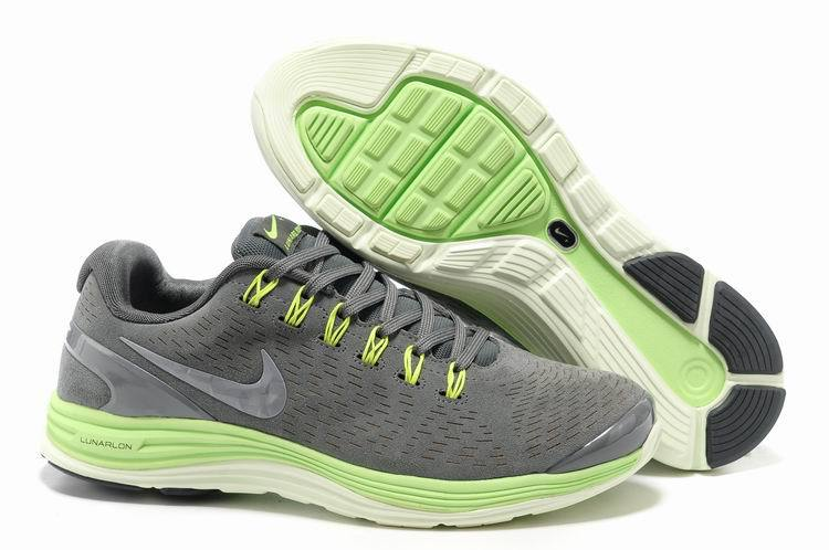 Nike 2013 Moonfall Grey Green White Sport Shoes