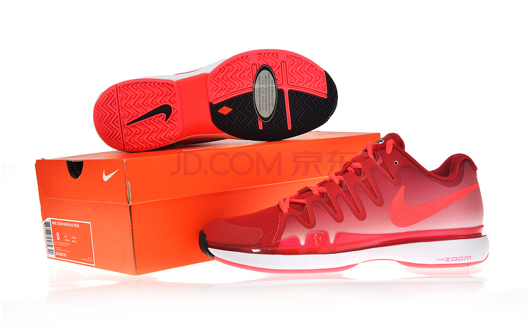 Nike 2014 Zoom Vapor 9.5 Tour Red White Tennis Shoes