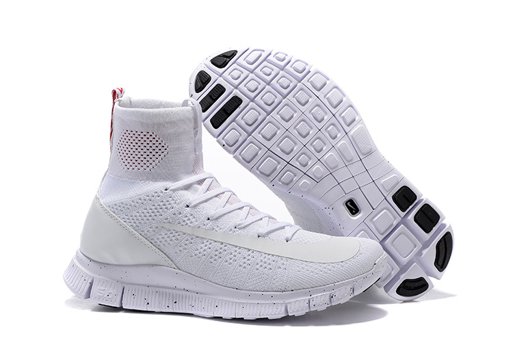 New Nike 50 Free Mercurial Superfly All White Running Shoes