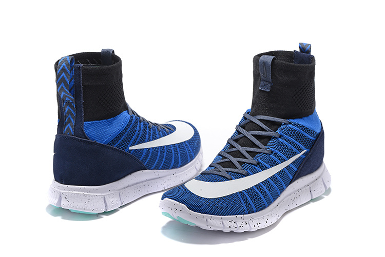 New Nike 50 Free Mercurial Superfly Blue Black White Running Shoes
