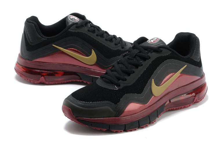 Nike Air Max TR 180 Shoes Black Red Gold