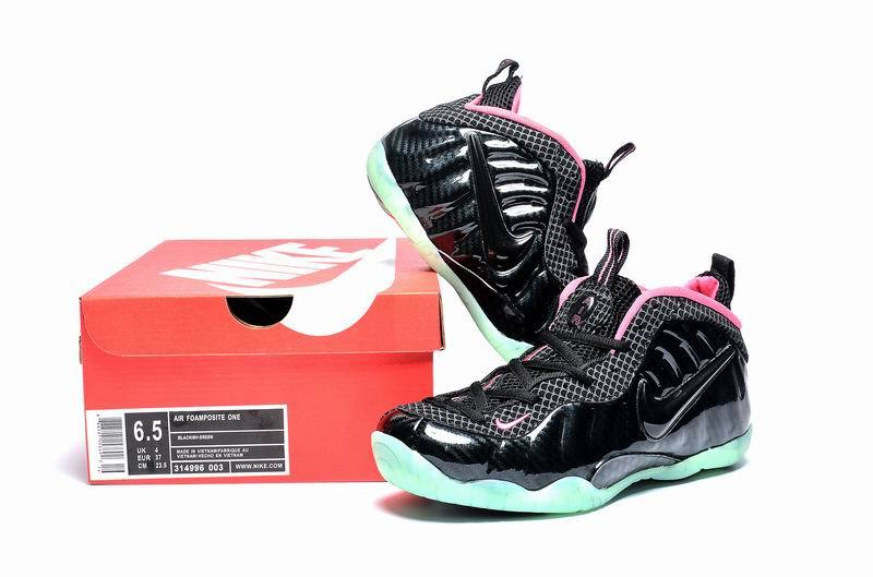 Nike Air Foamposite One Black Green Pink Shoes For Women