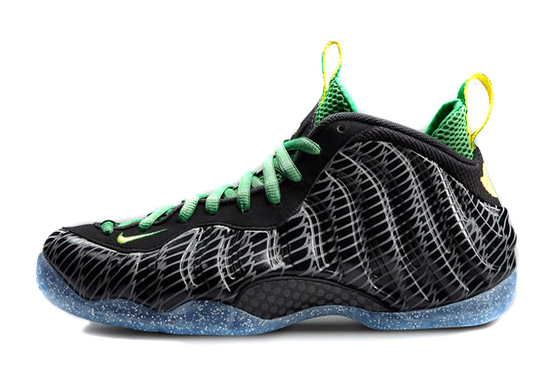 Nike Air Foamposite One Oregon Ducks Black Apple Green Yellow Strike For Sale