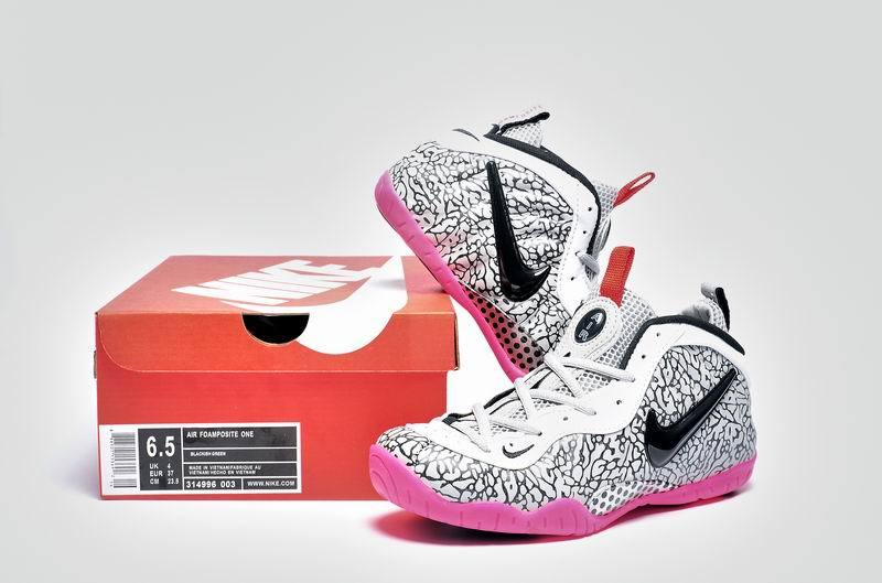 Nike Air Foamposite One White Grey Pink Shoes For Women