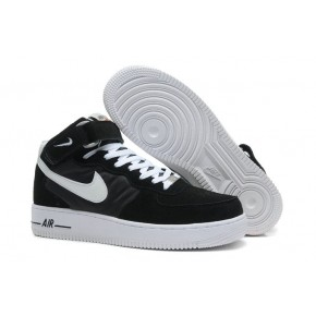 Nike Air Force 1 High Strap Black White Shoes
