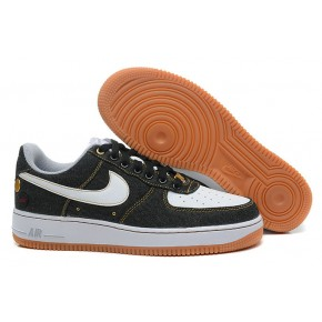 Nike Air Force 1 Low Black White Yellow Shoes
