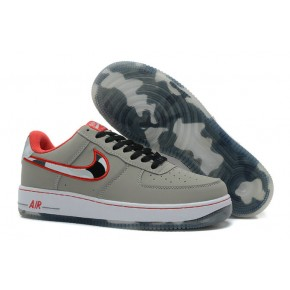Nike Air Force 1 Low Grey Red Shoes