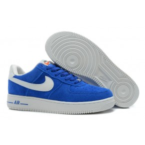 Nike Air Force 1 Low Suede Blue White Shoes