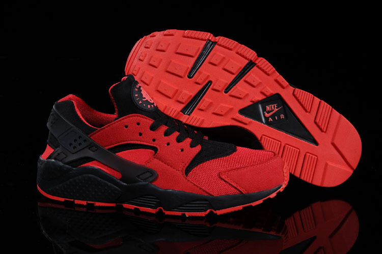 Nike Air Huarache Red Black Women Running Shoes
