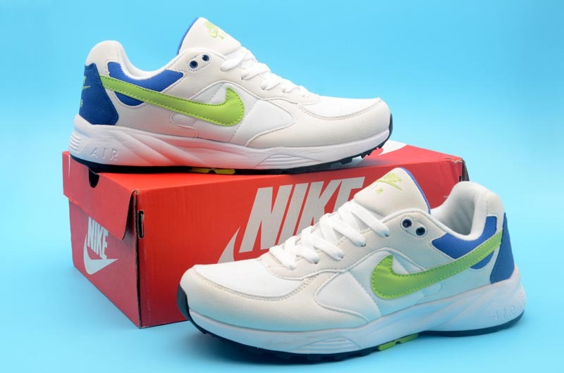 Nike Air Icarus White Blue Volt Shoes