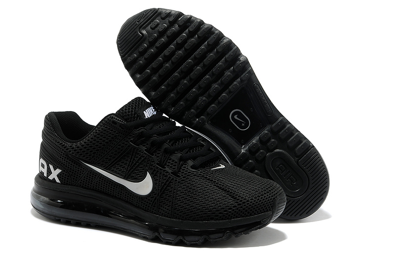 Nike Air Max 2013 All Black Sport Shoes