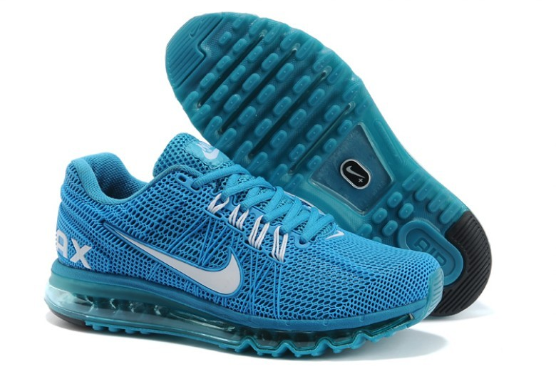 Nike Air Max 2013 All Blue Sport Shoes