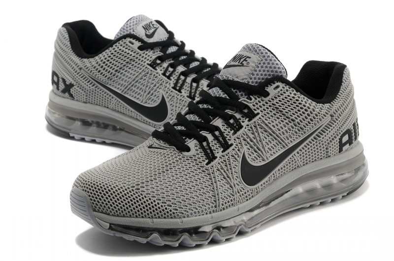 Nike Air Max 2013 All Grey Black Sport Shoes