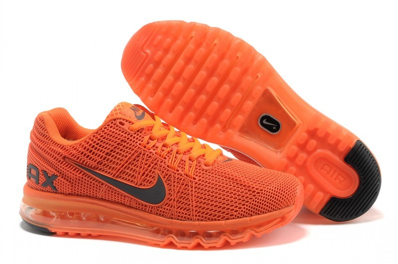 Nike Air Max 2013 All Orange Sport Shoes