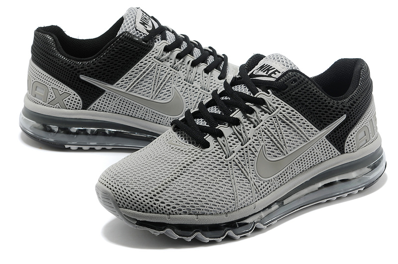 Nike Air Max 2013 Grey Black Sport Shoes