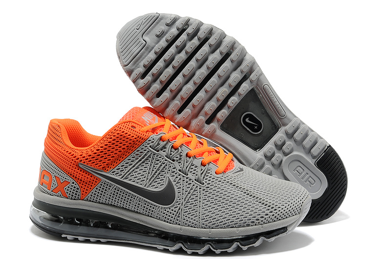 Nike Air Max 2013 Grey Orange Black Sport Shoes
