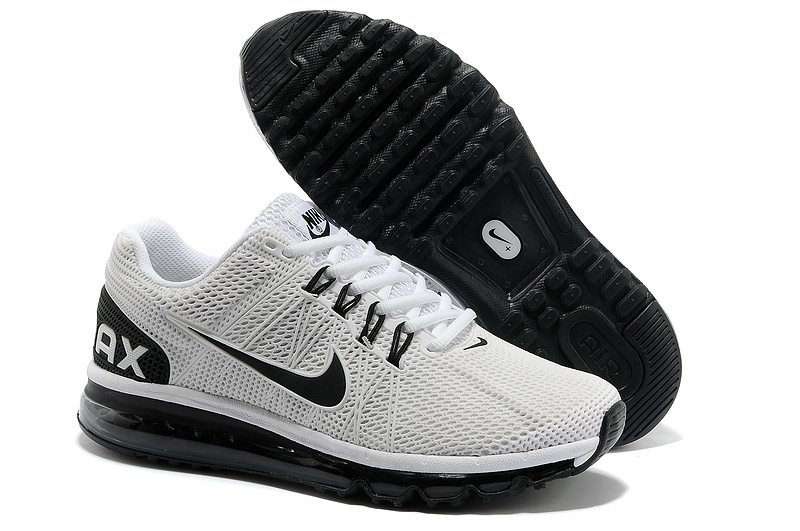 Nike Air Max 2013 White Black Sport Shoes