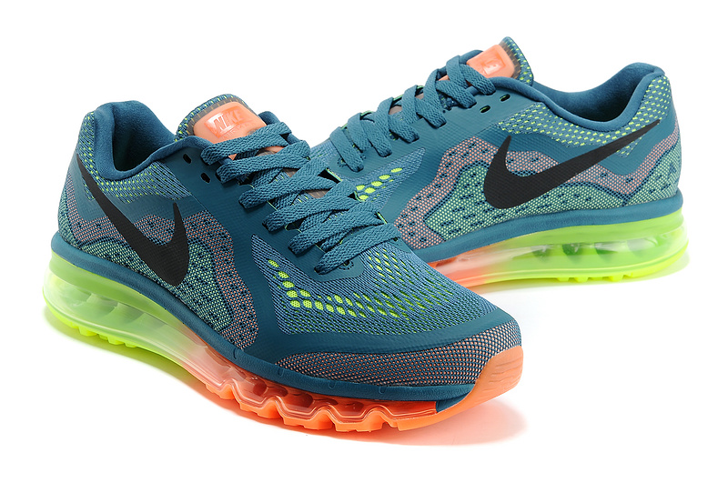 Nike Air Max 2014 Blue Orange Green Black Shoes