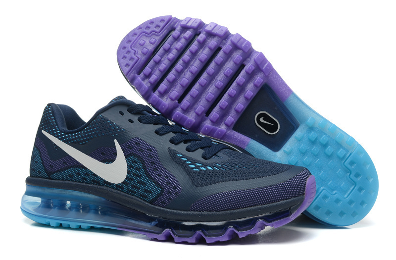 Nike Air Max 2014 Dark Blue Purple Shoes