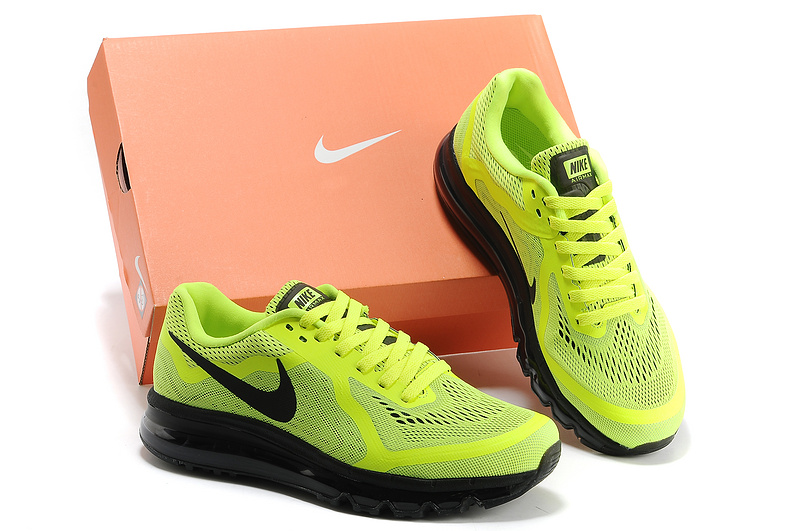Nike Air Max 2014 Fluorscent Green Black Shoes
