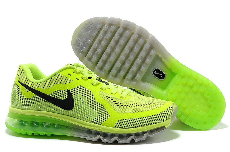 Nike Air Max 2014 Fluorscent Green Shoes