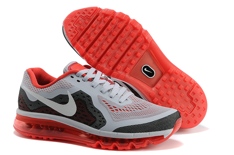Nike Air Max 2014 Grey Black Red Shoes