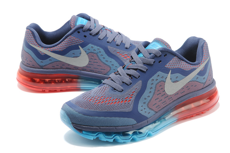Nike Air Max 2014 Grey Blue Orange Shoes