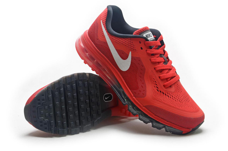 Nike Air Max 2014 Red Black Shoes