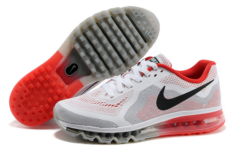 Nike Air Max 2014 White Grey Red Shoes