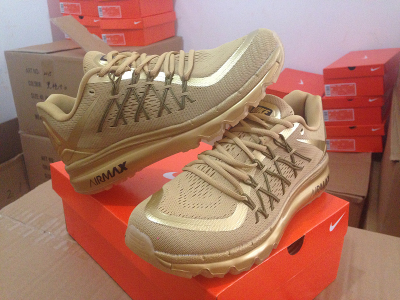 Nike Air Max 2015 All Gold Shoes