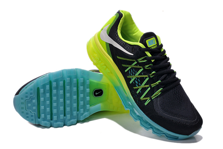 sneakers for cheap 3bee5 9ac60 Nike Air Max 2015 Black Blue Green Women Shoes