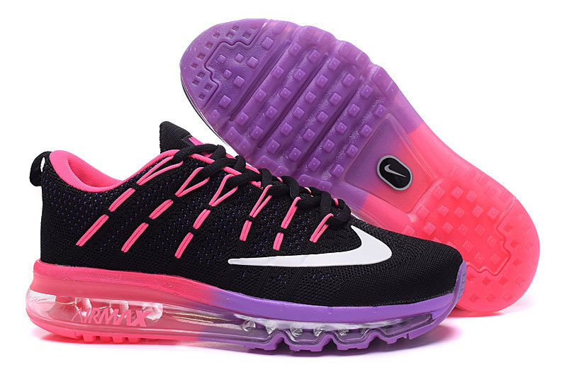 Women Nike Air Max 2016 Black Pink Purple Shoes