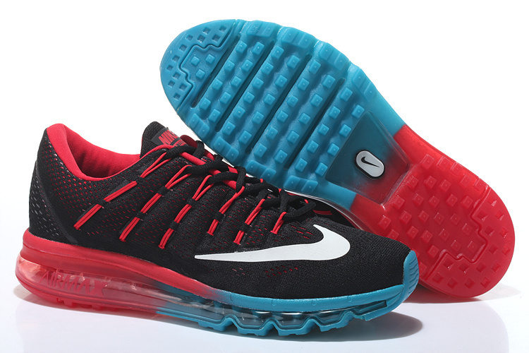 Women Nike Air Max 2016 Black Red Blue Shoes