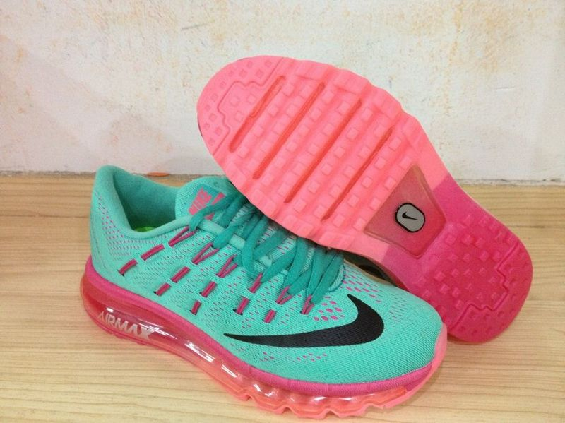 Nike Air Max 2016 Green Red Shoes For Women