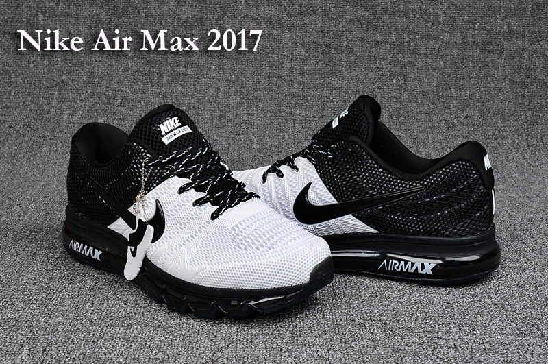 Nike Air Max 2017 White Black Running Shoes