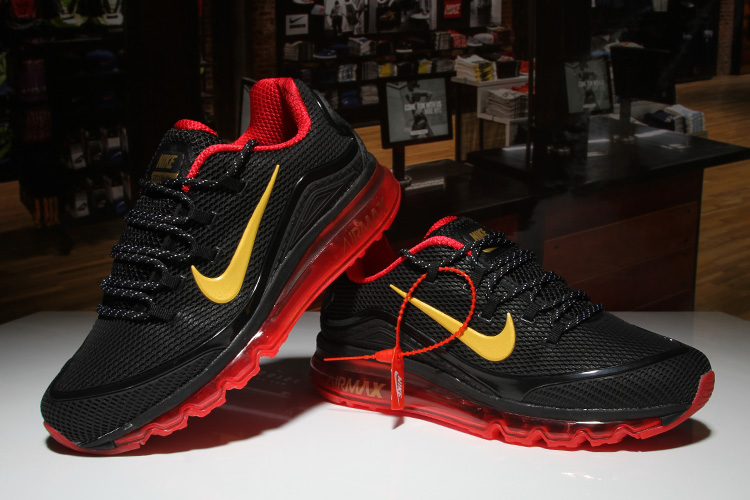 Nike Air Max 2018 Elite Black Red Yellow Shoes