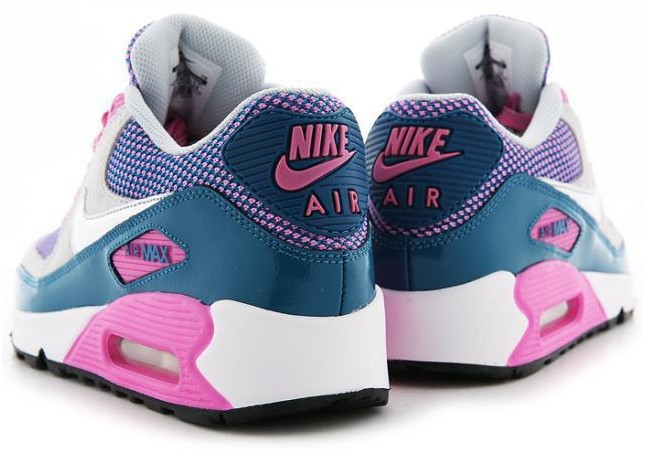 Nike Air Max 90 Grey Pink Blue Silver For Women