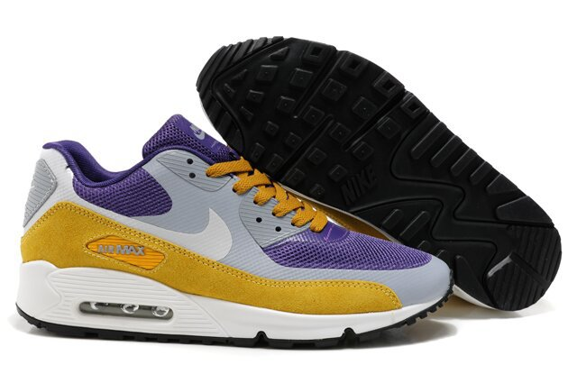 Nike Air Max 90 HYP PRM Grey Purple Yellow White