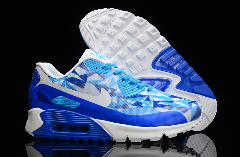 Nike Air Max 90 Hyperfuse Blue Grey White Shoes