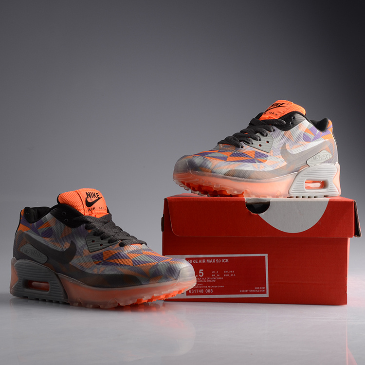 Nike Air Max 90 Jelly Grey Black Orange Shoes