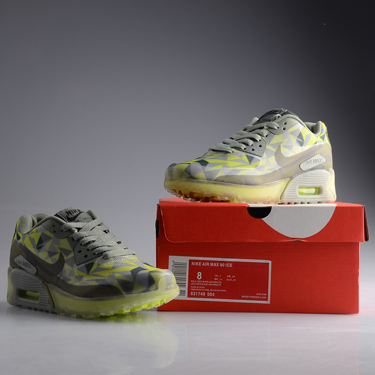 Nike Air Max 90 Jelly Grey Green Women Shoes