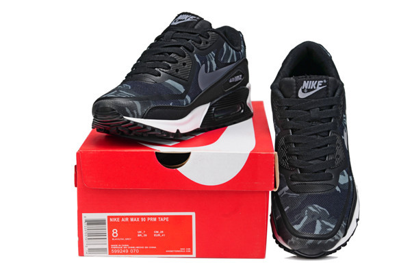 Nike Air Max 90 PREM TAPE Black Women Shoes