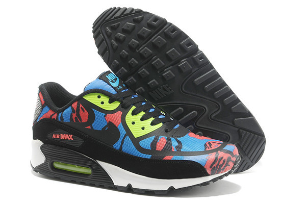 Nike Air Max 90 PREM TAPE Black Red Blue Women Shoes