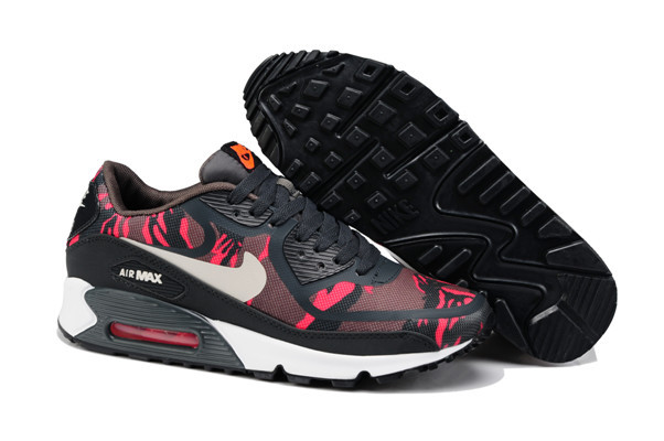 Nike Air Max 90 PREM TAPE Black Red Women Shoes