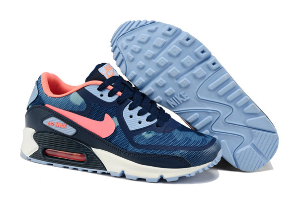 Nike Air Max 90 PREM TAPE Blue Red White Women Shoes