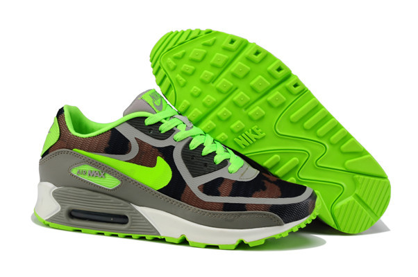 Women Nike Air Max 90 PREM TAPE Green Grey Shoes